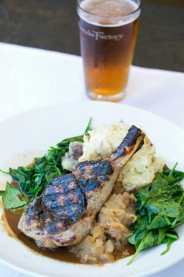 Grilled pork chop cheesecake factory. | Yums Yums | Pinterest