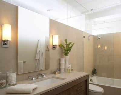 Creative Luxury Master Bathroom With Rough Rock Wall Large Enclosed Bathtub