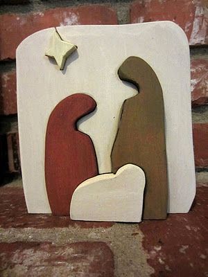 Wooden Nativity Puzzle Pattern