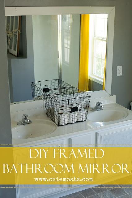diy framed bathroom mirror house decor repairs ideas pinterest