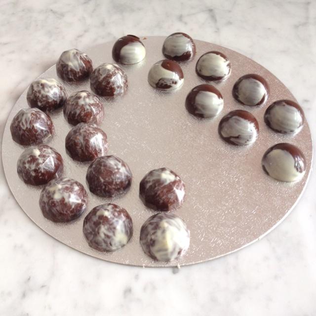 Chocolate ganache and Kirsch truffles | My Work: In Progress ...