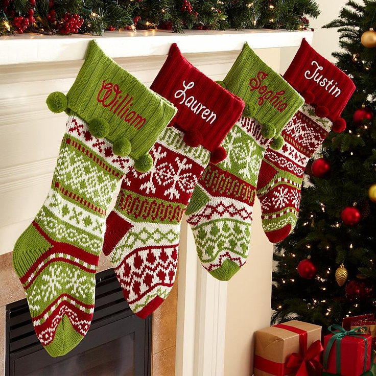 Stockings - So cute! Fun to make out of old Christmas sweaters