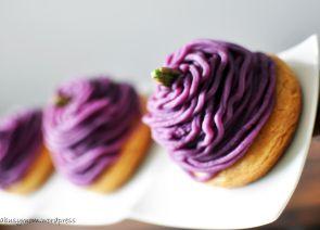 Purple Sweet Potato Mont Blanc (モンブラン)   Mont Blanc ...