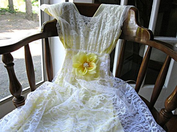 Sunshine yellow wedding dress special occasion by lilywhitepad