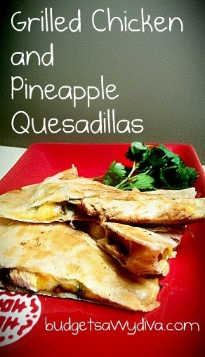 Grilled Chicken & Pineapple Quesadillas Ingredients 8 whole Flour ...