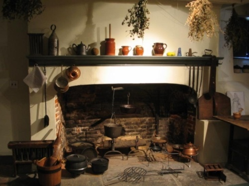 Colonial Fireplace With Cooking Tools 18th Century Fireplace Cooki