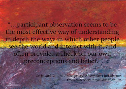 anthropology observation essay