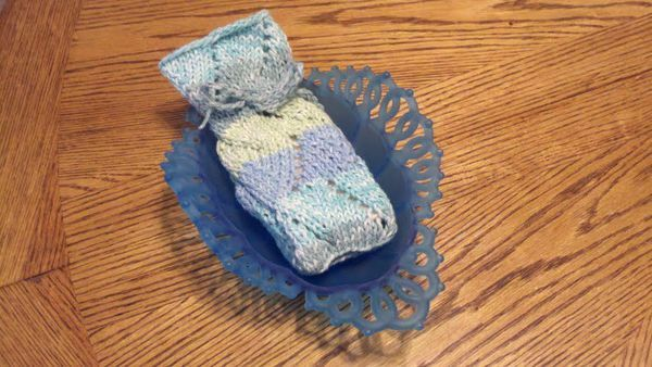 Knitted Soap Holder Pattern : Knitted Soap Holder Knitting and More Pinterest