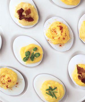 Deviled Eggs, Four Ways|To easily peel hard-boiled eggs, tap each egg ...
