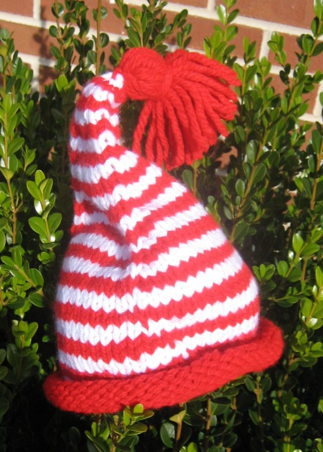 Easy Elf Hat, free pattern. Knitting I Like Pinterest