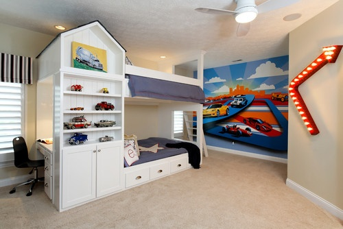Race car theme boys room cool rooms for kids pinterest