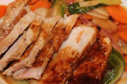 Hoisin And Honey Glazed Pork Chops Recipe — Dishmaps