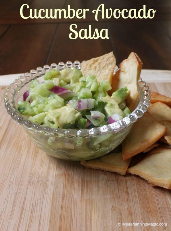 Cucumber Avocado Salsa | Recipe