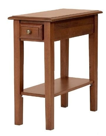 Solid birch 12 narrow end table cherry stain for 12 x 12 accent table