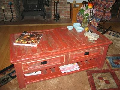 Rustic Red Coffee Table Barnwood Craft Plus Pinterest