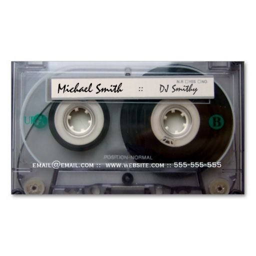 cassette tape dj business cards this is a fully customizable business