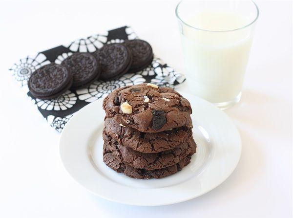 Triple Chocolate Oreo Chunk Cookies | Recipe