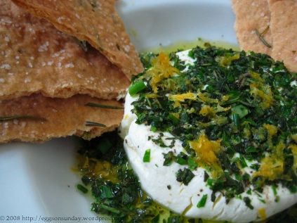 ... Marinated Goat Cheese with Crisp Rosemary Flatbread « eggs on sunday