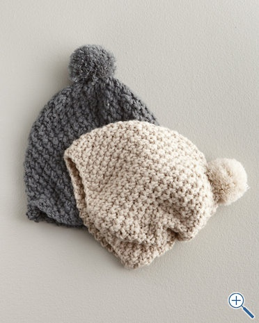Hat Attack Popcorn-Stitch Slouch Hat Knit Pinterest