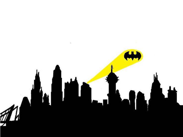 Batman Gotham City skyline large wall art