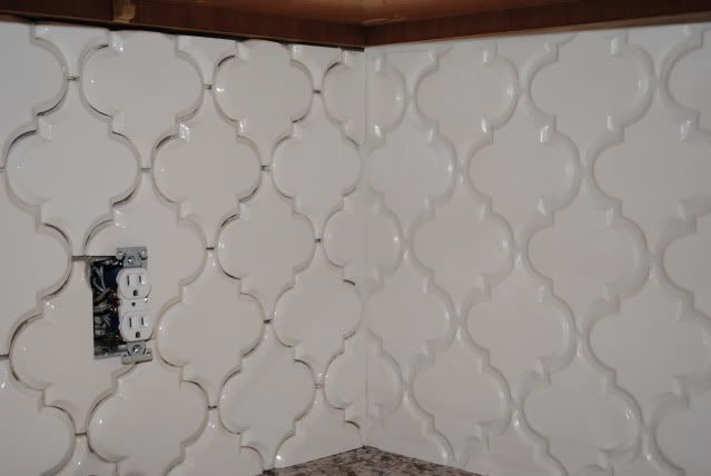 Beveled Arabesque tile : kitchen back splash tile : Pinterest