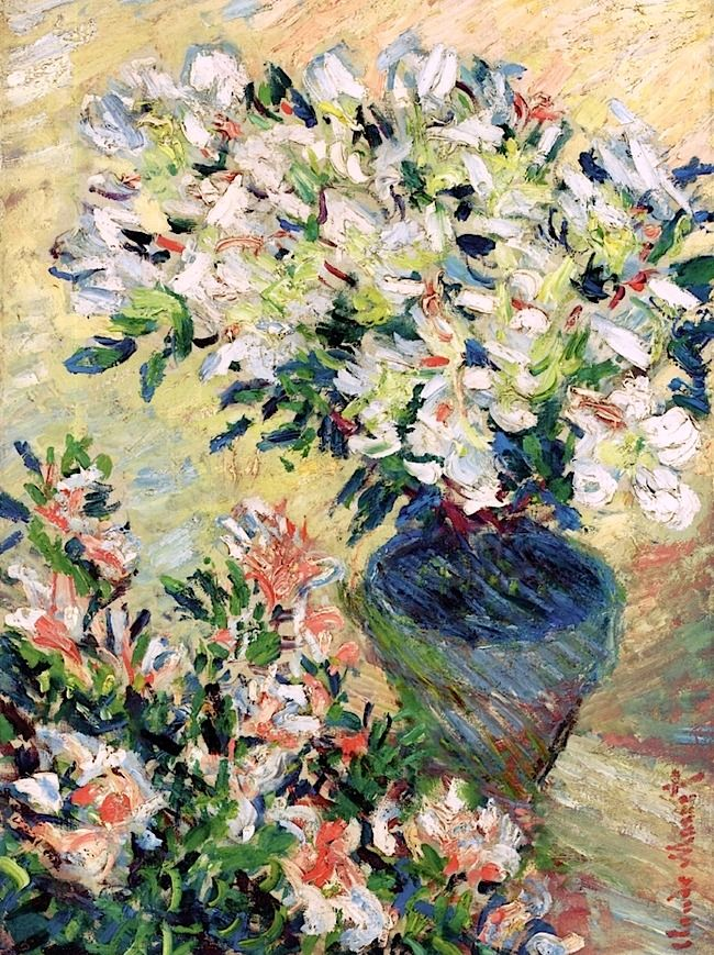 Claude Monet - White Azaleas in a Pot, 1885