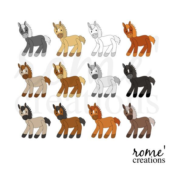 Horse Digital Clip Art Set | Leaps and Bounds | Pinterest