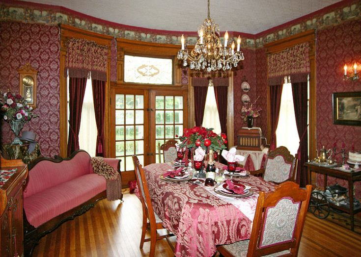 Victorian dining room victorian era pinterest for Victorian house dining room ideas