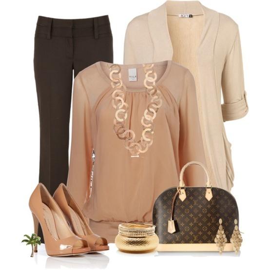 Office Wear Polyvore Style Fashion Pinterest