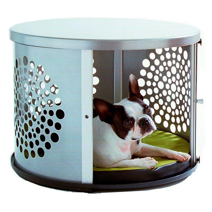 Furniture Pet Crate Denhaus Bowhaus Modern Dog Furniture Silver Pet Crate