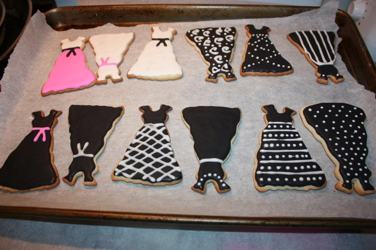 cute idea for bridal shower to see who can decorate a better dress