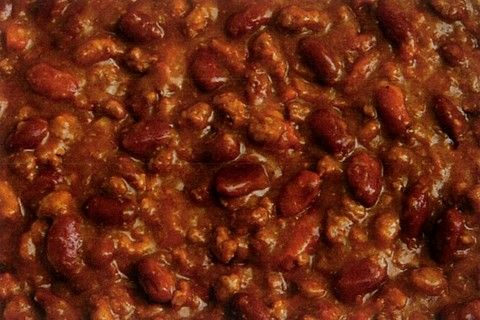 Chili Con Carne (my mom's recipe) 1 # ground beef, 1 medium onion ...