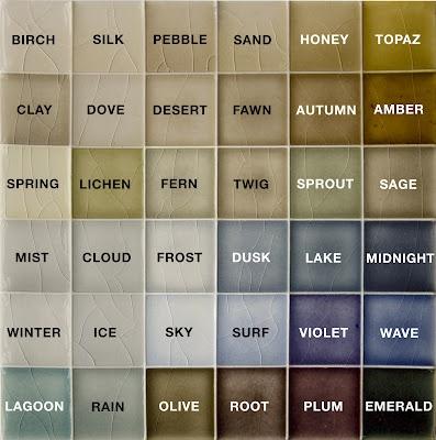Pratt Amp Larson Tile Color Chart Tiles Pinterest
