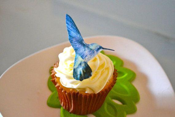 The Original EDIBLE Hummingbirds  Cake & Cupcake by SugarRobot, $8.95
