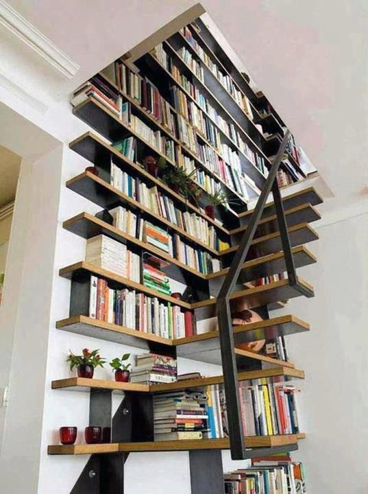 Stair Wall BookCase Book Case Designs Pinterest