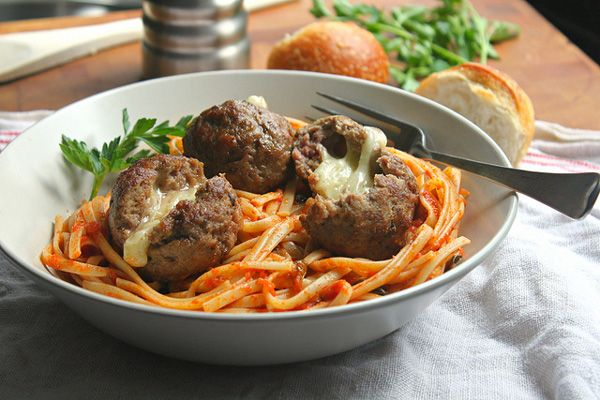 Cheese-stuffed meatballs - i don't particularly like meatballs but i ...