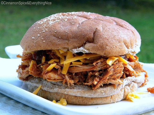 Barbecue Pulled Chicken Sandwiches- the absolute BEST BBQ sauce you ...