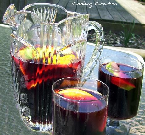 Cooking Creation: Drinks red sangria (adult and kid version)
