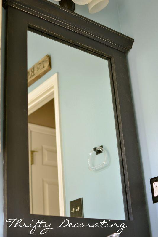 mdf frame mirror w molding bathroom pinterest