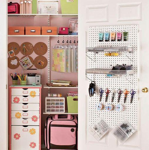 Cute storage space.