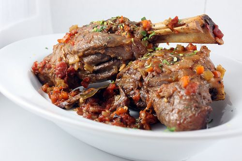 Lamb Shanks Braised with Tomatoes & Herbs