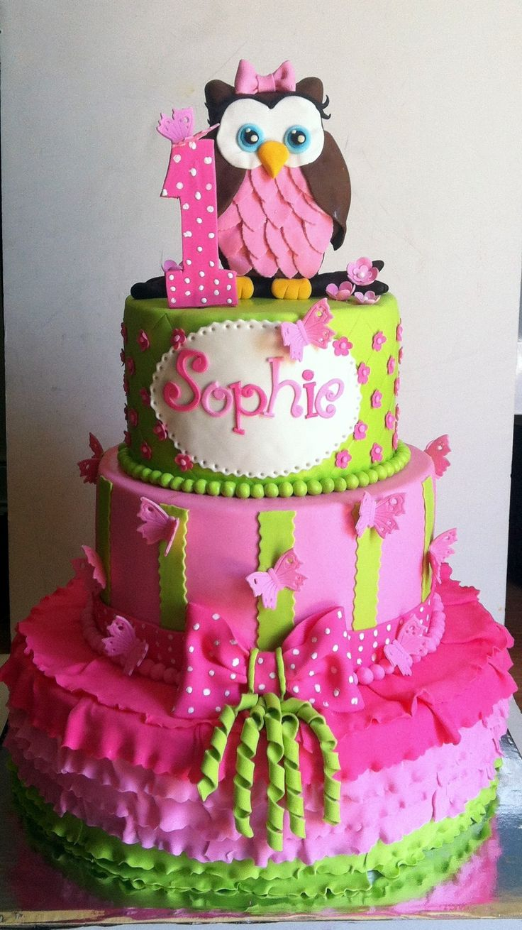 Owl Birthday Decorations Girl Image Inspiration of Cake and