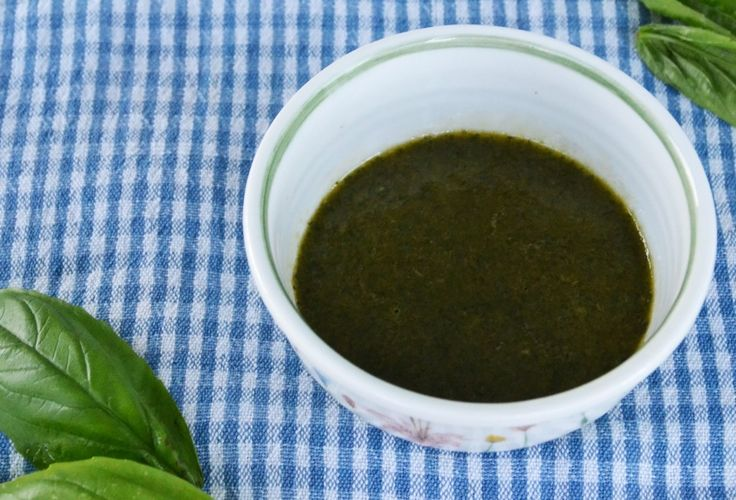 Basil Vinaigrette with just three ingredients: Basil, Olive Oil and ...