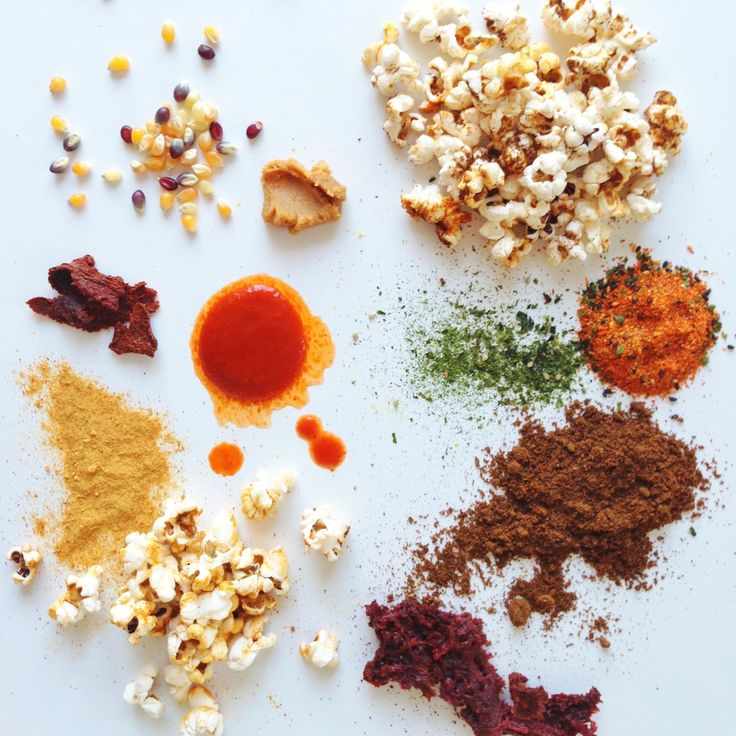 popcorn combos (sriracha powder + nutritional yeast/ miso powder ...