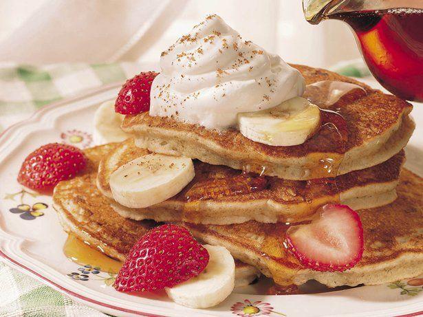 Banana-Pecan Pancakes   Recipe