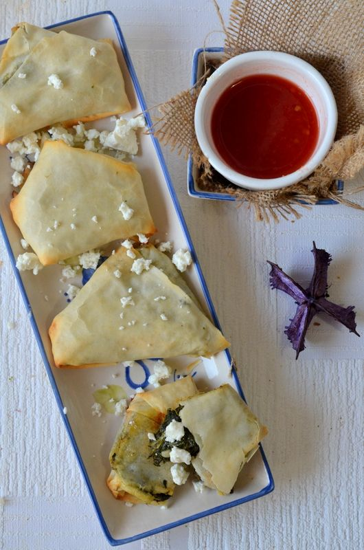 Baked Spinach Samosa - An interesting combination of Greek Spinach and ...