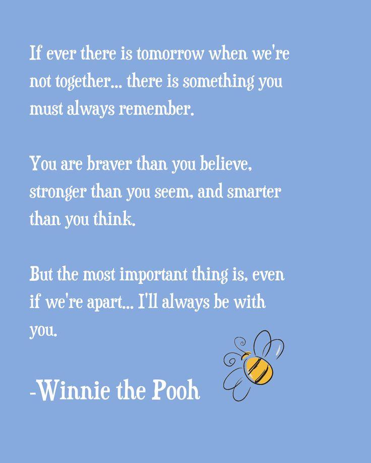 Best Friend Quote Winnie The Pooh : Winnie the pooh quote print