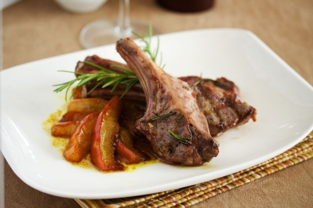 Grilled Lamb Chops with Curried Pears | What to Have with Sake ...