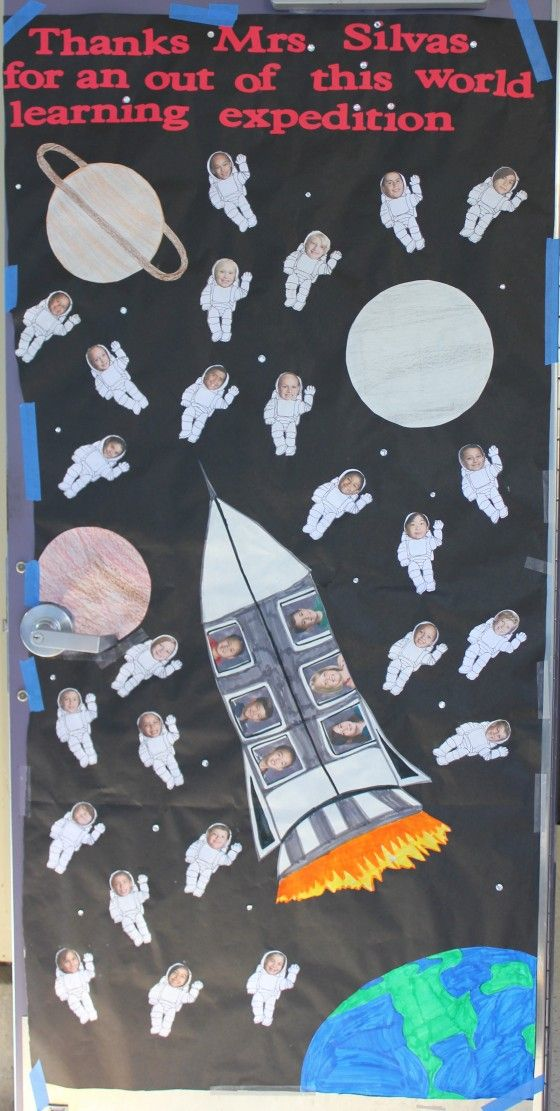Decorating A Space Themed Classroom : Door bulletin board idea preschool themes outer space