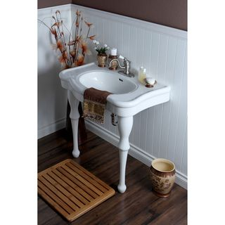 Wall Mount Pedestal Sink : ... inch Center Wall Mount Pedestal Bathroom Sink Vanity Overstock.com